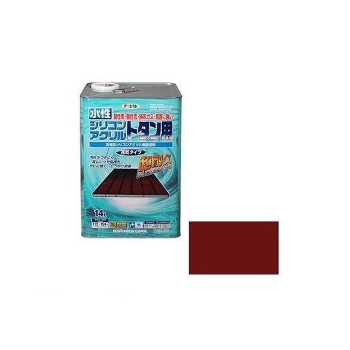 アサヒペン 4970925453303 アサヒペン 水性シリコンアクリルトタン用 14L 赤さび