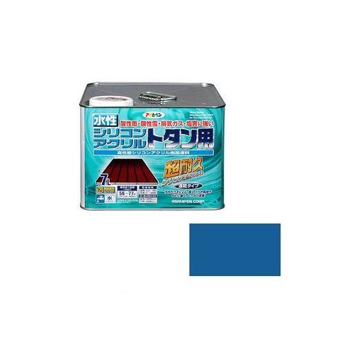アサヒペン [4970925453242] アサヒペン 水性シリコンアクリルトタン用 7L スカイブルー