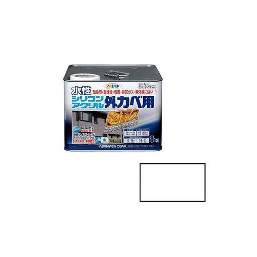 アサヒペン [4970925452603] アサヒペン 水性シリコンアクリル外かべ用 8KG ホワイト