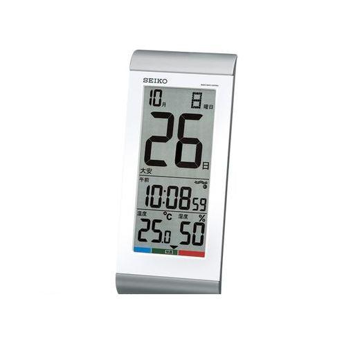 セイコー [SQ431S] 【4個入】 日めくりカレンダー時計(銀色)    ■【AKB】