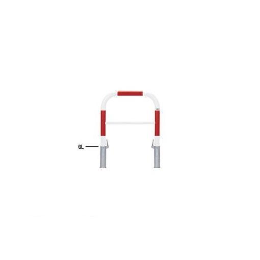 【個人宅配送不可】帝金 Teikin 82-P3 R&W 直送 代引不可・他メーカー同梱不可 スチール製バリカー 横型・コノ字型・アーチ型・U字型車止めポール スタンダードタイプ 中桟付・中桟あり φ60.5xt2.8 W700 H650 mm 赤白色 82P3R&W