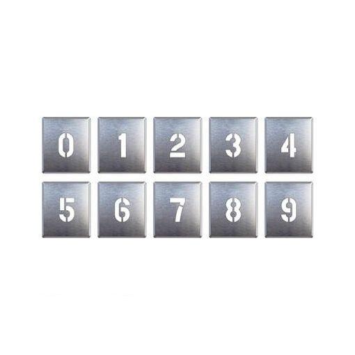 ユニット [34906A] 吹付け用プレート 0~9【10枚1組】 【送料無料】