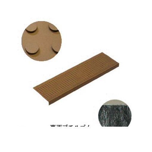 ミヅシマ工業 [490047] 消音マット ステップBT1 粘着型 240×810mm ブラウン【10セット】