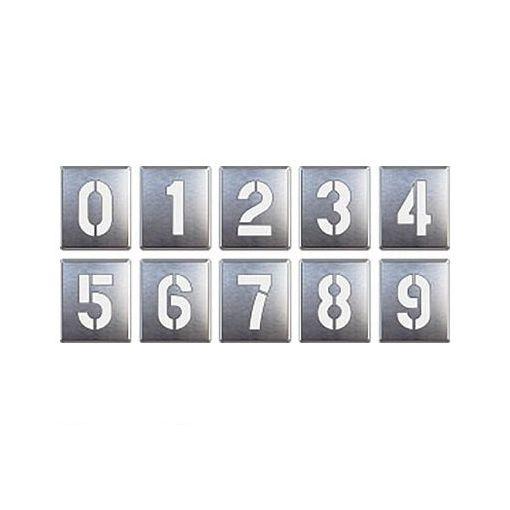 ユニット 81935A 吹付け用プレート 0~9【10枚1組】