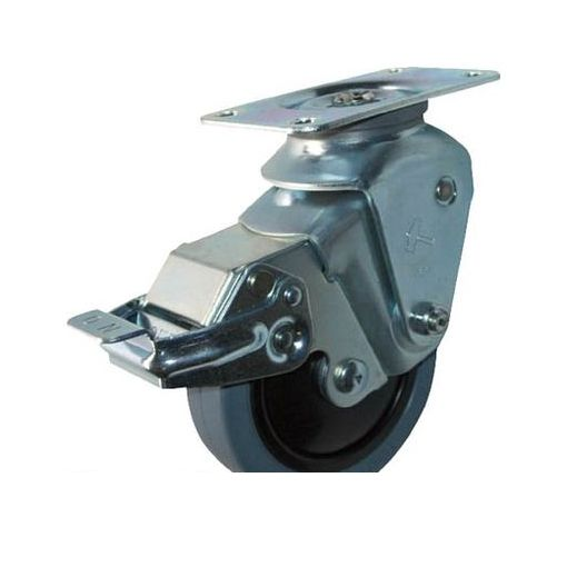 【受注生産品-納期約1週間】ハンマーキャスター [935S0EFR125S20] オールステンレスクッションE自在SPゴム125mm線径2.0