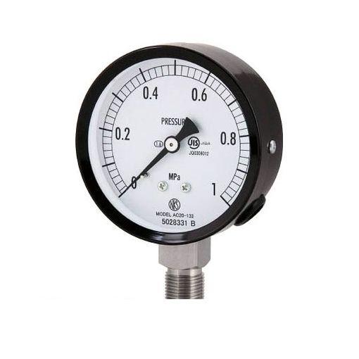 長野計器 株 AC201336.0MP 普通形圧力計【A枠立形・φ75・G3/8B・0.0~6.00Mpa】