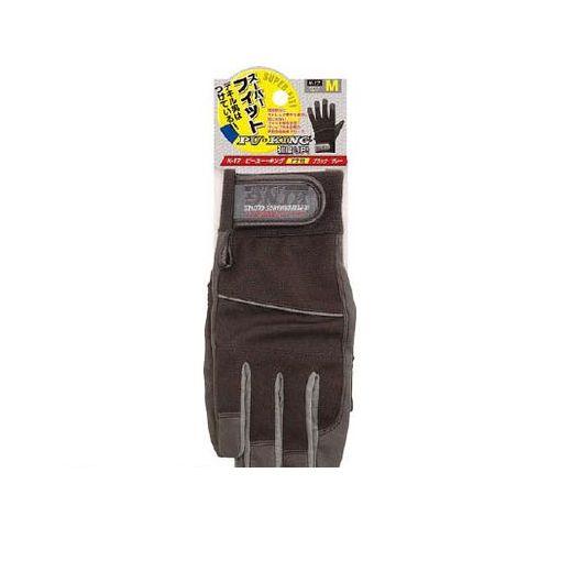 おたふく手袋 K17BKGRLL ピーユー・キング ブラックXグレー LL