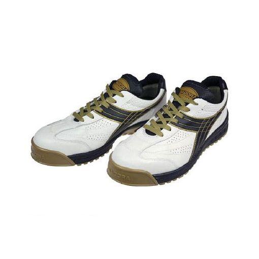 【あす楽対応】ドンケル [PC12275] DIADORA 安全作業靴 ピーコック 白/黒 27.5cm