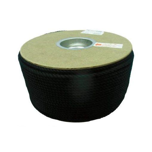 ユタカメイク PRS91 ポリエステルロープ ドラム巻 5φ×200m 黒