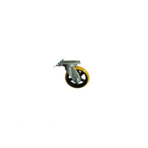 ヨドノ SDUJ250TL 重量用高硬度ウレタン自在車250φ旋回ロック付【送料無料】