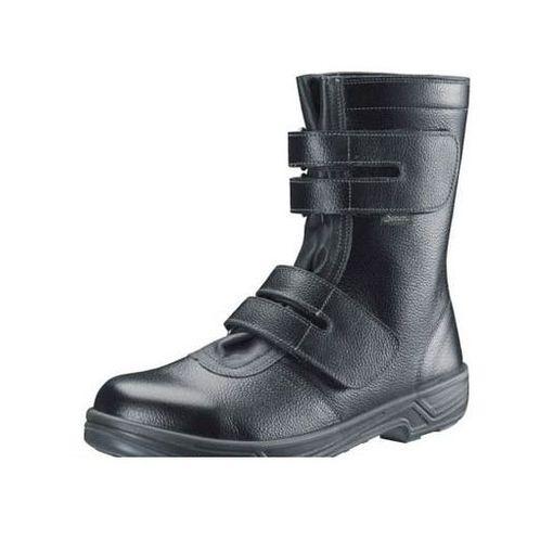 シモン [SS3830.0] 安全靴 長編上靴マジック式 SS38黒 30.0cm【送料無料】