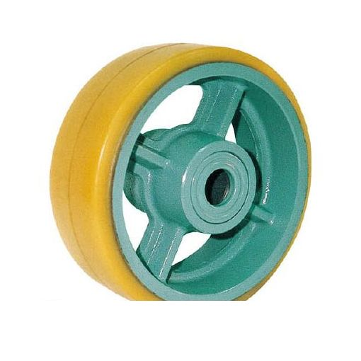 【個数:1個】ヨドノ UHB250X65 鋳物重荷重用ウレタン車輪ベアリング入 UHB250X65【送料無料】