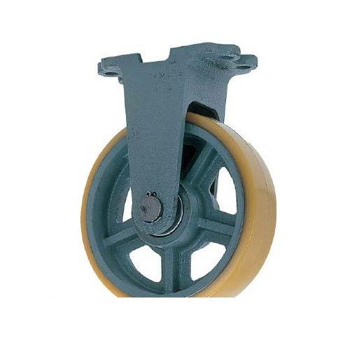 【個数:1個】ヨドノ UHBK100X50 鋳物重荷重用ウレタン車輪固定車付き UHBーk100X50