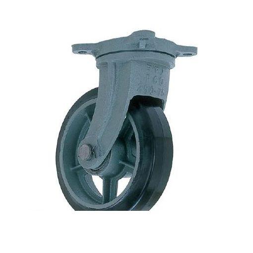 ヨドノ HBG500X150 直送 代引不可・他メーカー同梱不可 鋳物重荷重用ゴム車輪自在車付き HBーg500X150【送料無料】