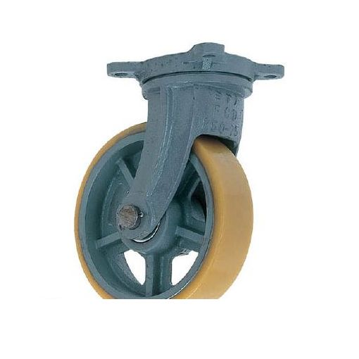 ヨドノ UHBG500X75 直送 代引不可・他メーカー同梱不可 鋳物重荷重用ウレタン車輪自在車付き UHBーg500X75【送料無料】