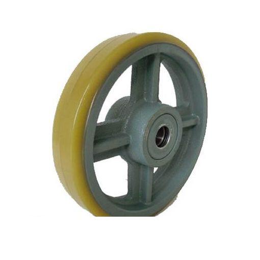 ヨドノ USB460 直送 代引不可・他メーカー同梱不可 鋳物中荷重用ウレタン車輪ベアリング入 460φ【送料無料】
