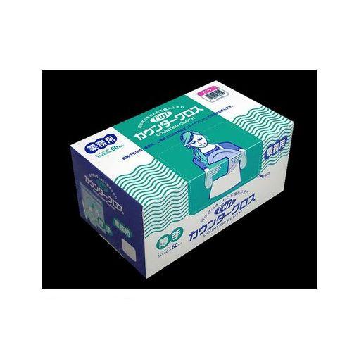 【まとめてケースでお買得】フジナップ [941500] フジカウンタークロス厚手 ホワイト 60枚×6箱入
