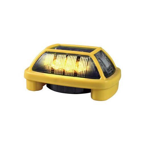 【個数:1個】日恵 VK16H-004F3Y 直送 代引不可・他メーカー同梱不可 電池式ブザー付きLED警告灯 ニコハザード・ファブ【黄】 VK16H004F3Y