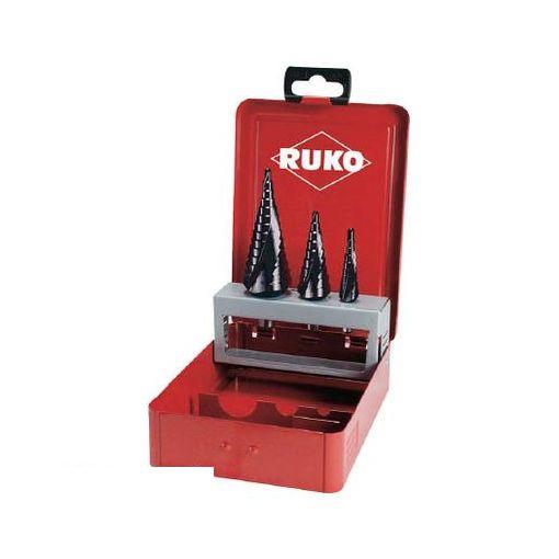 RUKO社 101026F RUKO 2枚刃スパイラルステップドリルセット 3本組 チタンアルミウム【送料無料】