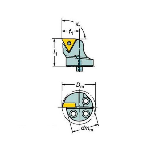 【あす楽対応】サンドビック [570STFCR1611B1] サンドビック コロターンSL コロターン107用カッティングヘッド