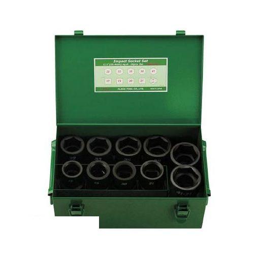 FPC 8WAS10 FPC インパクト セミロングソケット セット 差込角25.4mm 10pc