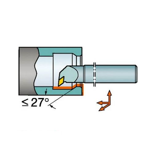 サンドビック A25TPDUNL11 サンドビック T-Max P ネガチップ用ボーリングバイト