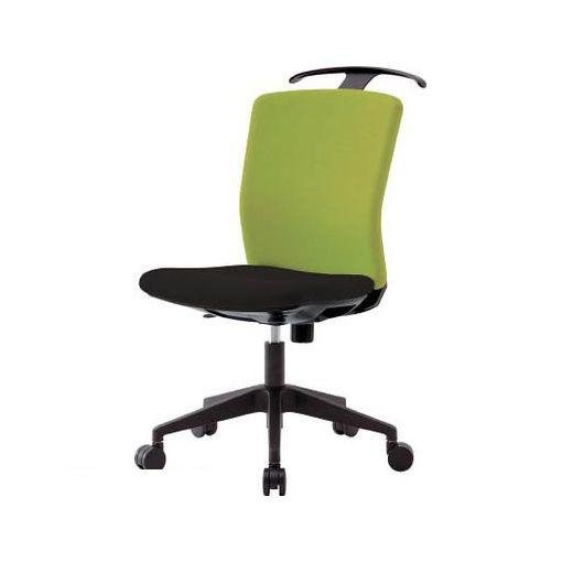 【あす楽対応】【個数:1個】アイリスチトセ HGXCKR46M0FLGN アイリスチトセ ハンガー付回転椅子【フリーロッキング】 グリーン/ブラック