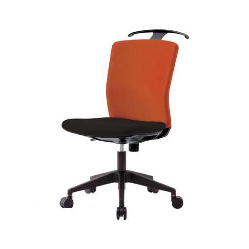 【あす楽対応】【個数:1個】アイリスチトセ HGXCKR46M0FOG アイリスチトセ ハンガー付回転椅子【フリーロッキング】 オレンジ/ブラック