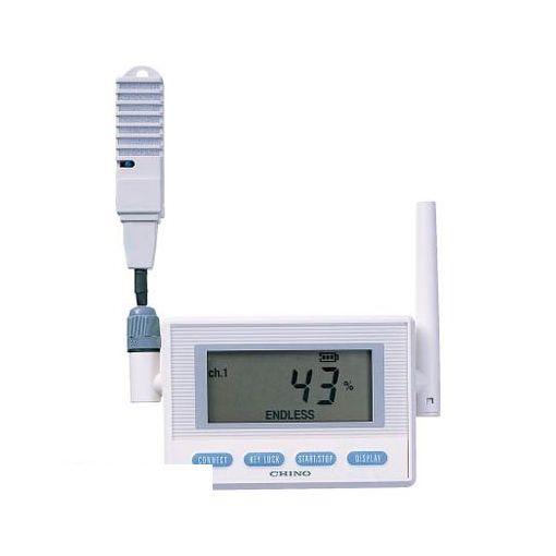 チノー MD8202100 CHINO 監視機能付無線ロガー 送信器 温湿度センサ 専用バッテリリード1M【送料無料】