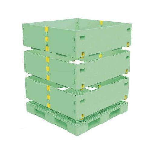 【個数:1個】トラスコ中山 TMSCS1111GN 直送 代引不可・他メーカー同梱不可 TRUSCO マルチステージコンテナ 3段 1100X1100 緑
