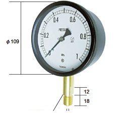 長野計器 NKS BE10-131-10.0MP 密閉形圧力計 A枠立型 100mm 【0.0~10.0MPa】 圧力 ゲージ BE1013110.0MP
