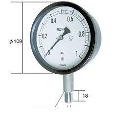 長野計器 NKS BE10-133-0MP 密閉形圧力計 A枠立型 100mm 【-0.1~0.0MPa】 圧力 ゲージ BE101330MP