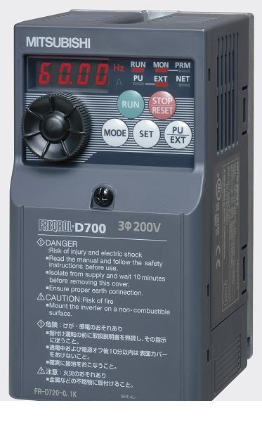 FR-D720S-1.5K 小形インバータ FREQROL-D700シリーズ 三菱電機 FRD720S1.5K 【送料無料】