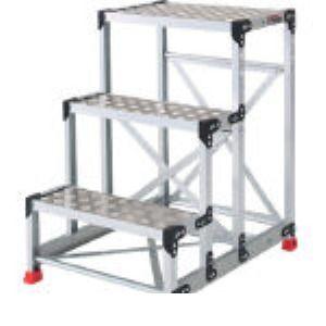 【個数:1個】トラスコ中山 TRUSCO TSFC-369 アルミ合金製作業台 縞鋼板 600X400X90 TSFC369