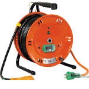 日動 NL-EB30S 電工ドラム びっくリール 100V アース漏電しゃ断器付 30m タン NLEB30S