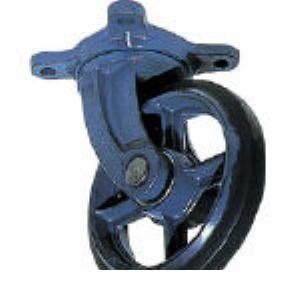 京町 AJ-250 鋳物製自在金具付ゴム車輪250MM カナグツキ AJ250 107-4971 【送料無料】