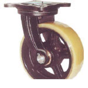 ヨドノ MUHA-MG300X100 鋳物重量用キャスター MUHAMG300X100 305-3229 【送料無料】