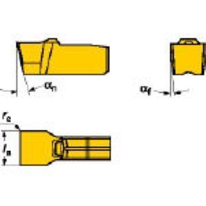 SV N151.3-200-20-4G 235 溝入れ・突切り用旋削チップCOA 10個入 N151.3200204G 235 【キャンセル不可】