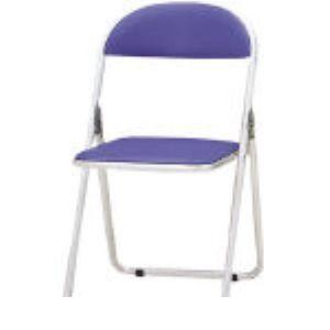 【あす楽対応】【個数:1個】TOKIO [CF-700-BL] パイプ椅子 シリンダ機能付 アルミパイプ ブルー CF700BL 298-5209