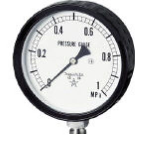 右下 G411-261-0.1MP ステンレス圧力計圧力 ゲージ G4112610.1MP 332-8147 【送料無料】 【送料無料】