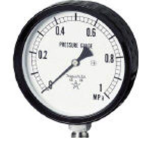 右下 G411-261-2.5MP ステンレス圧力計圧力 ゲージ G4112612.5MP 332-8210 【送料無料】 【送料無料】