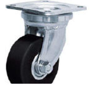 シシクアドクライス DHJ-100U-MCMO 低床超重荷重用キャスター 100径 ユニクロメッ DHJ100UMCMO