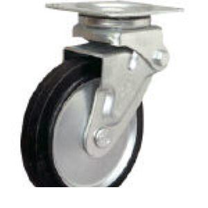 【あす楽対応】シシク [SAJ-HO-150W] 緩衝キャスター 自在 150径 ゴム車輪 SAJHO150W 353-5223