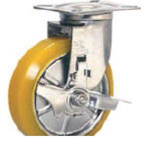 シシクアドクライス SUNJB-150-SEUW ステンレスキャスター 制電性ウレタン車輪自在ス SUNJB150SEUW 【送料無料】