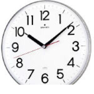 SEIKO KX301H アクリルカバー電波掛時計 直径294×47 白 KX-301H 327-6911 【送料無料】