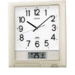 【個数:1個】SEIKO PT201S 電波プログラムクロック 429×345×57 銀色メタリック PT-2 302-5683 【送料無料】