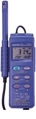MK CENTER 314 デジタル温湿度計 ロガー機能付/温度2チャンネル CENTER 314 【送料無料】