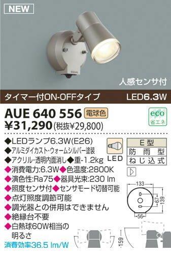 コイズミ照明 [AUE640556] 【工事必要】 LEDアウトドアスポットライト AUE640556 【送料無料】