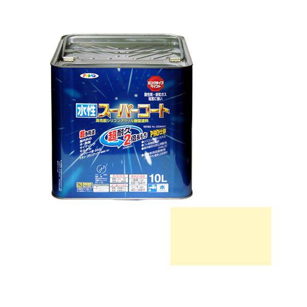 アサヒペン 4970925416650 水性スーパーコート 10L アイボリー 4970925416650