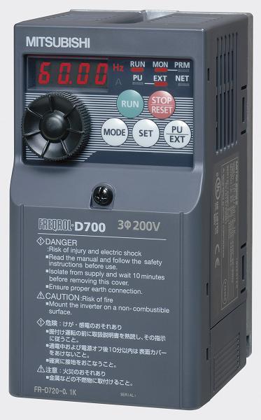 FR-D720S-0.4K 小形インバータ FREQROL-D700シリーズ 三菱電機 FRD720S0.4K